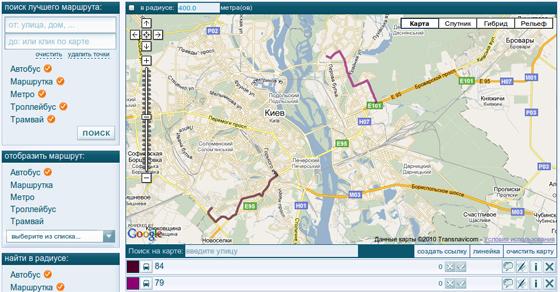 маршрут городского транспорта