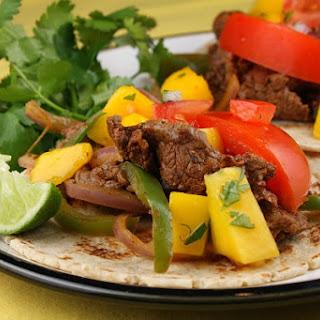 Beef Fajitas with Mango Salsa