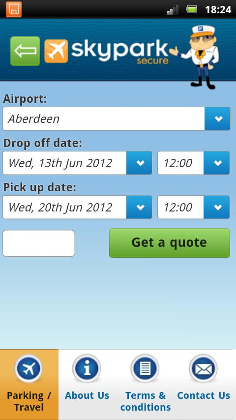 SkyparkSecure App- screenshot
