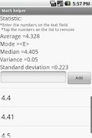 Screenshot of Math helper