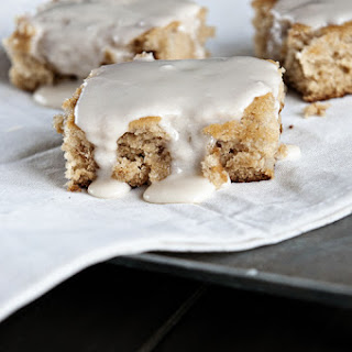 Frosted Spiced Pear Cake