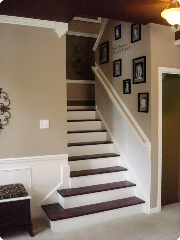 My Biggest Diy Project The Stairs From Thrifty Decor Chick