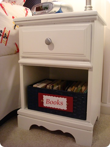 Small nightstand makeover kid room