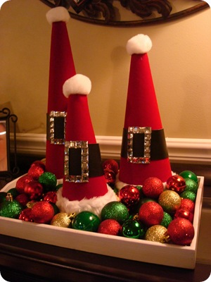 knock off Santa hat decor