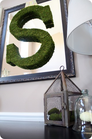 pottery barn mossy letter