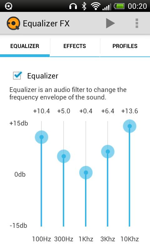 Equalizer FX - screenshot