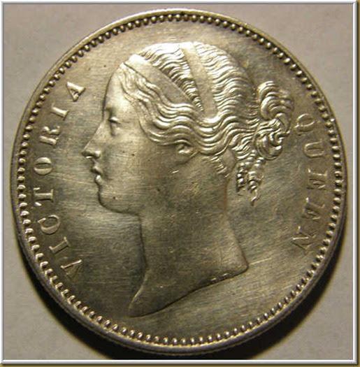 British India Coins Queen Victoria Silver Rupee1840