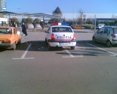 Poliţia parchează