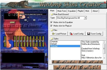 Winamp Skin Creator