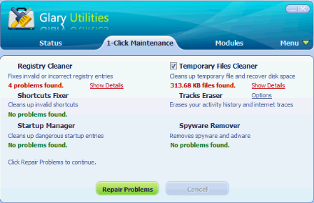 Glary Utilities Free Windows Maintenance Solution