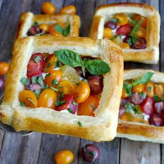 Puff Pastry Tomato Tarts.
