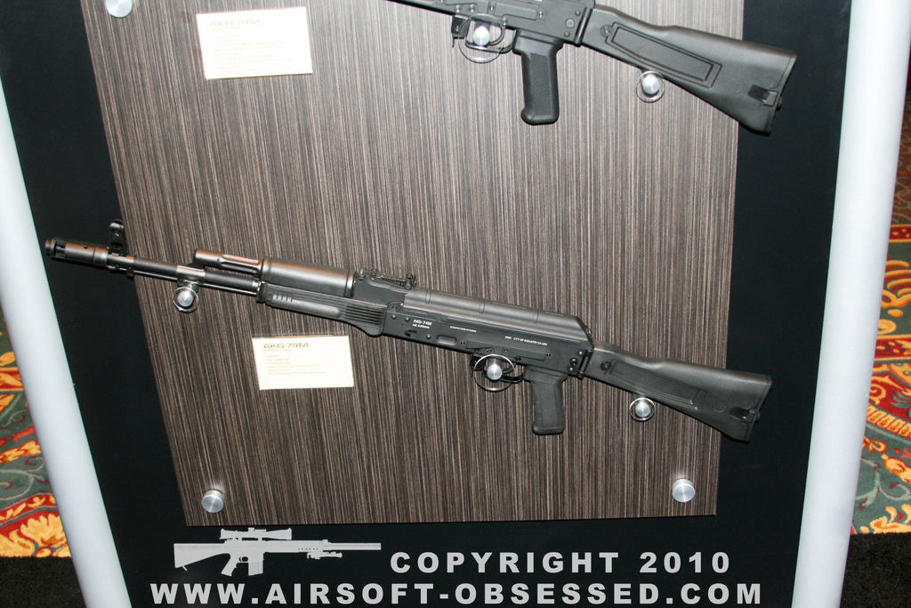 Airsoft Guns, KWA, Shot Show 2011 Coverage, Las Vegas, AKG-74M, AKR-74M, AKR-74SU, Kinetic Feedback System, Gas-Operated Full-Stroke Blow Back, Gas Blow Back Rifle, Airsoft AEG,Airsoft AK47, Airsoft AK74,AK, AEG, GBBR, Pyramyd Air, Pyramyd Airsoft Blog, Airsoft Obsessed, Airsoft Blog,