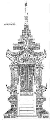 Hintha (Hamsa) Throne - back