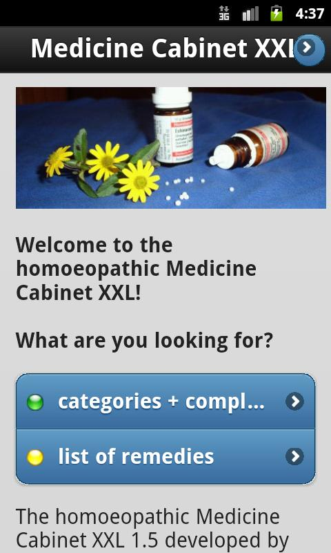Homeopathy MedicineCabinet XXL- screenshot