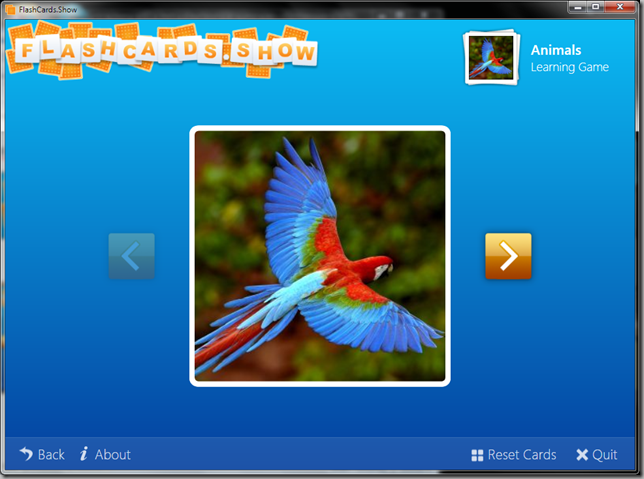 FlashCards.Show Learning Game Screenshot