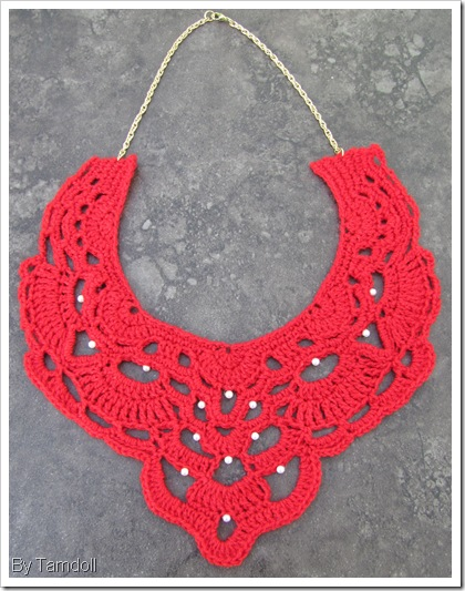 Tamdoll crochet necklace