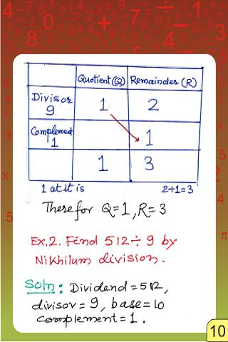 Vedic Maths - Division - Nikhi- screenshot