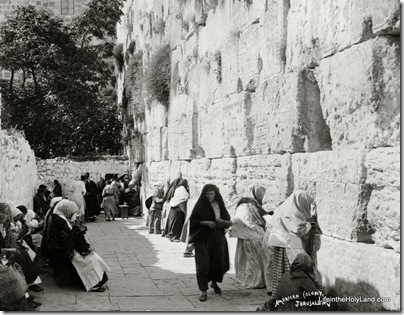 Jews at Western Wall, mat08511