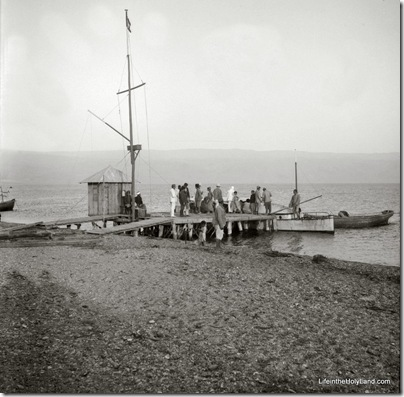 Dead Sea, dock, mat09224
