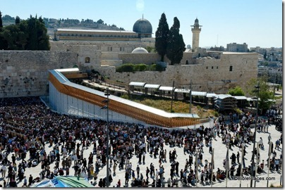 New and old ramp to Temple Mount at Western Wall, tb042605549