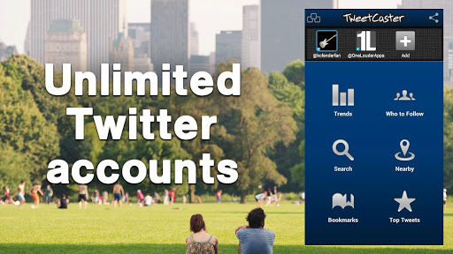 ������ ������� ������ TweetCaster Pro for Twitter v7.7