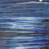 nachtelijke zee