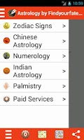 Screenshot of Astrology by Findyourfate.com