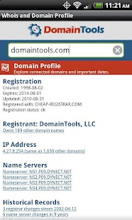DomainTools Whois Lookup- screenshot thumbnail