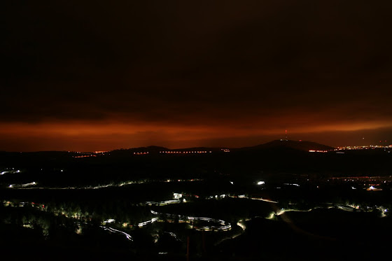 night view of canberra from mt stromlo