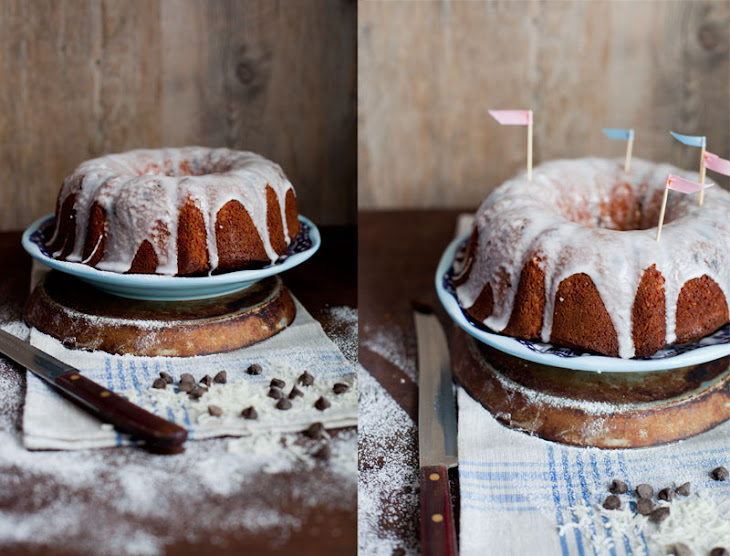 Coconut Chocolate Chip Bundt Cake with Icing Recipe