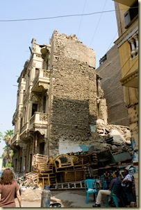 Crumbled building