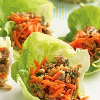 Thai Turkey Lettuce Wraps.