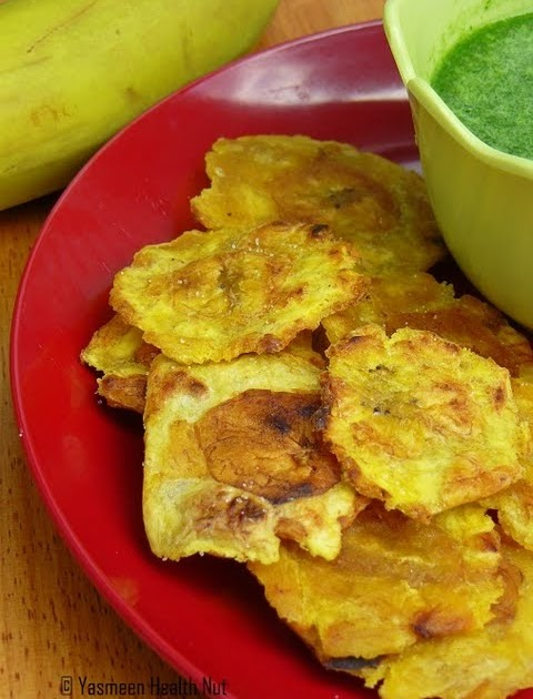 Baked Tostones with Mojo Verde(Green Dipping Sauce)