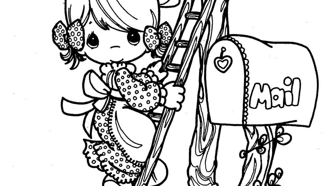Mail carrier, precious moments coloring pages | Coloring Pages