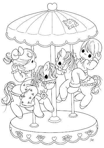 Carousel Horse Coloring Page | crayola.com | 512x358