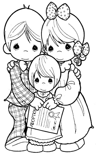 Pinto Dibujos Día De La Familia Precious Moments Para