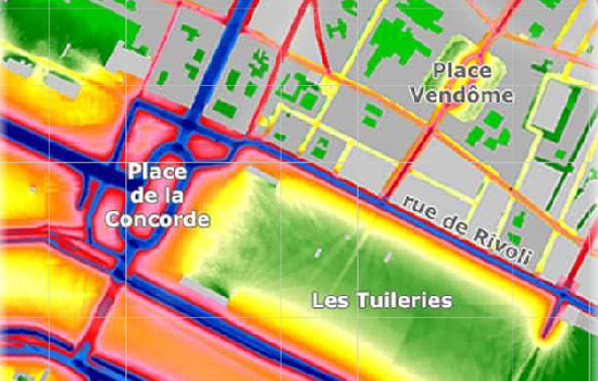 Map of Road Traffic Noise in Paris