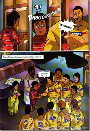 CSKomics Volume 01 Paandi Boy Of The Matche Dated Apr 2011 30th Page Story