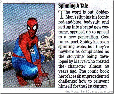 The Times of India Dated 23042011 Chennai Edition Spiderman News