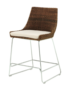 McGuire Woven Shelter Kitchen Chairs