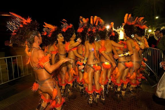 Carnaval de Sitges. Rua de l'Extermini.Sitges, Garraf, Barcelona