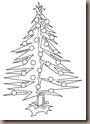 Dibujo de pinos de navidad para niños para colorear