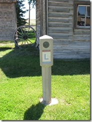 1439 Lincoln Highway Concrete Marker at Medicine Bow Museum Medicine Bow WY