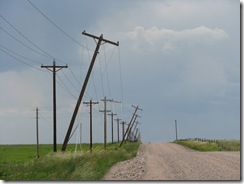 1089 Leaning Hydro Poles between Egbert & Burns WY
