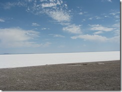 1951 Bonneville Salt Flats as seen from I 80 West Rest Area UT