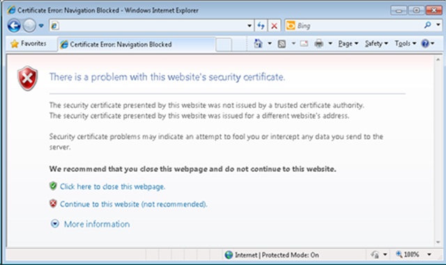 vCenter Operations Manager - certificate warning