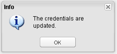 vCenter Operations - credentials updated confirmation