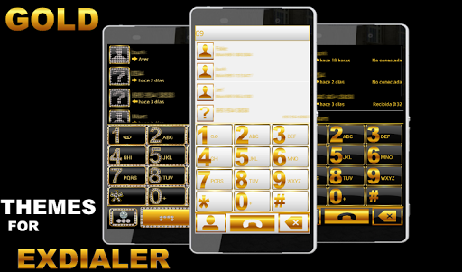 THEME GOLD WHITE FOR EXDIALER
