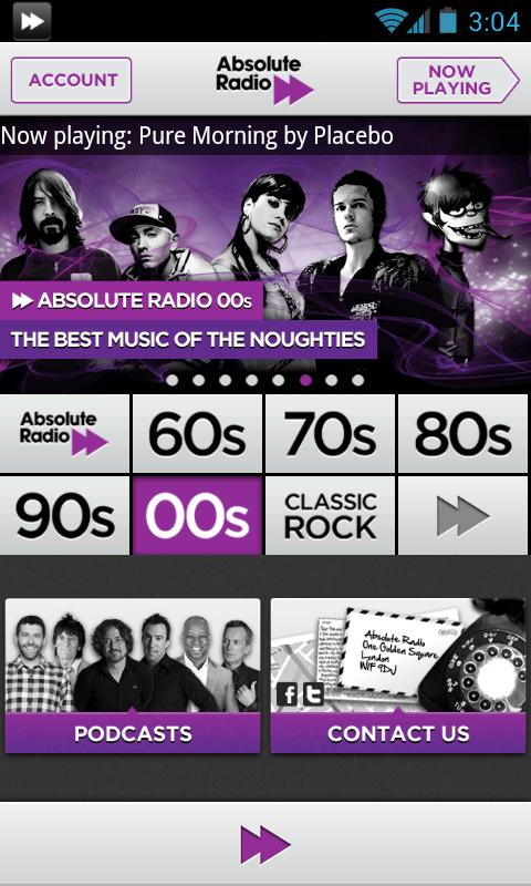 Absolute Radio 00s - screenshot