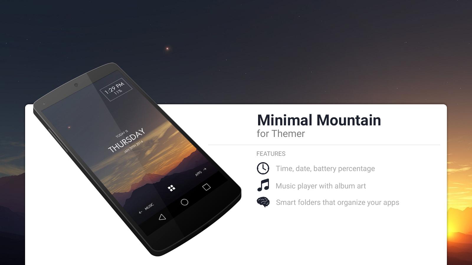 Google themes date a live - Minimal Mountain Theme Screenshot